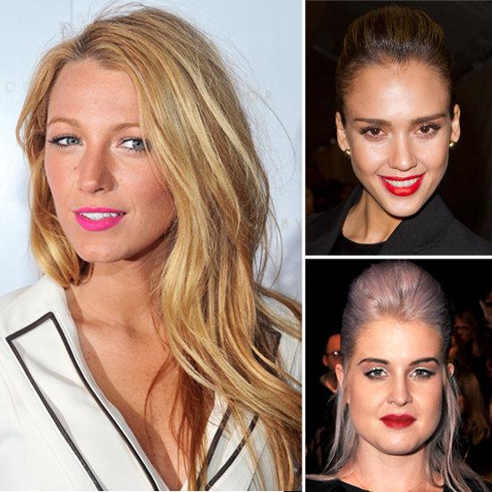 Jessica Alba, Blake Lively Wear Bright Lipstick at New York Fashion Week