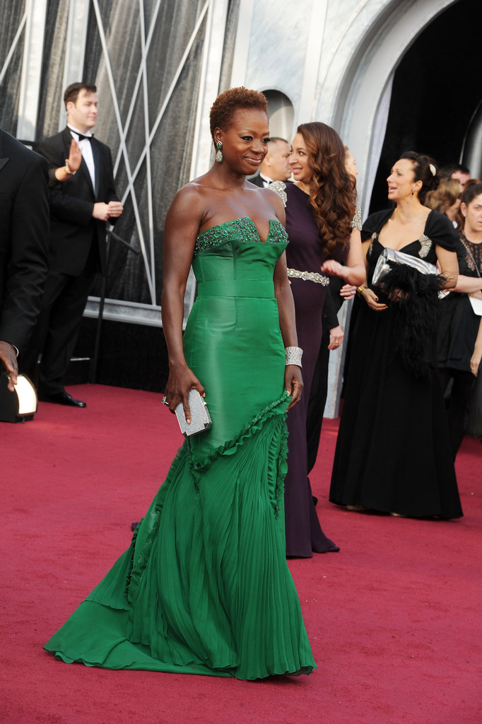Viola Davis in Vera Wang at the 2012 Oscars.