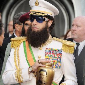 Sacha Baron Cohen as The Dictator Pictures Pranking Ryan Seacrest With Kim Jong-il Ashes at 2012 Oscars