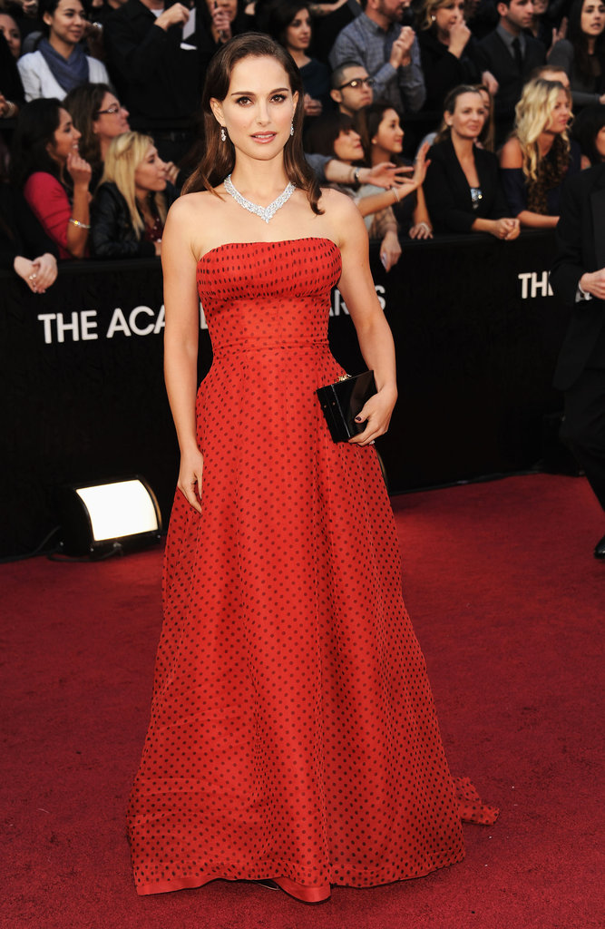 Natalie Portman was in Dior for the 2012 Oscars.