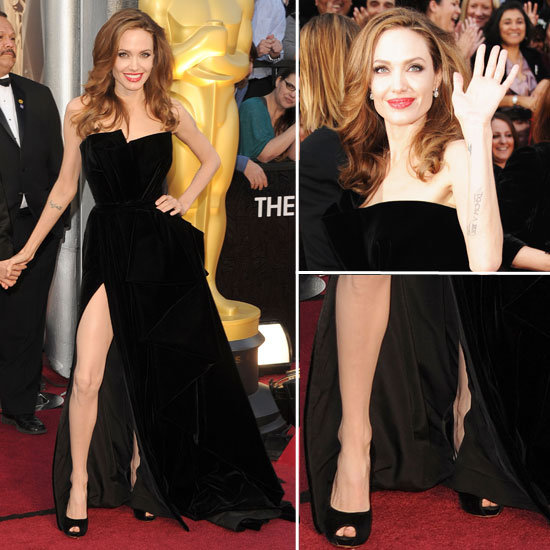 Angelina Jolie at Oscars 2012