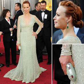 The Artist Star Berenice Bejo Wears Mint, Long Sleeved Elie Saab Gown at the 2012 Oscars: Love It?