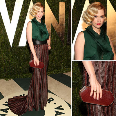 January Jones at Vanity Fair Oscars Party 2012