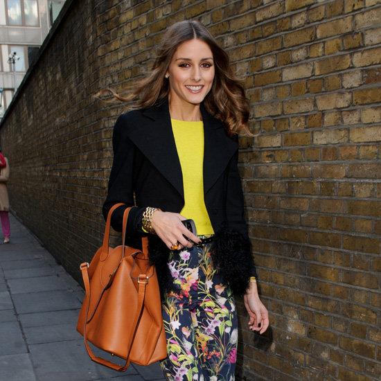 Olivia Palermo Floral Pants