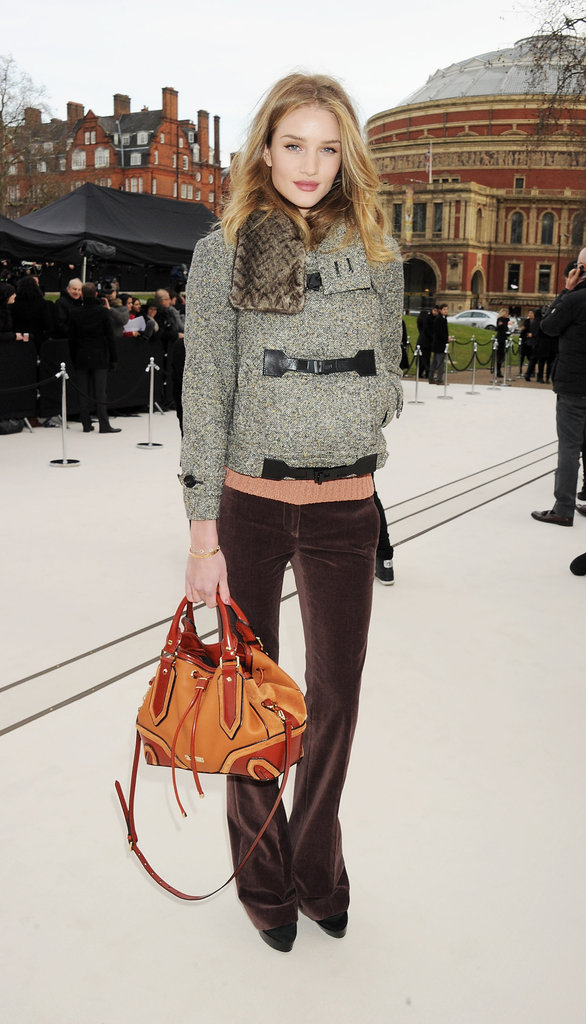Rosie Huntington-Whiteley attended the Fall 2012 Burberry show.