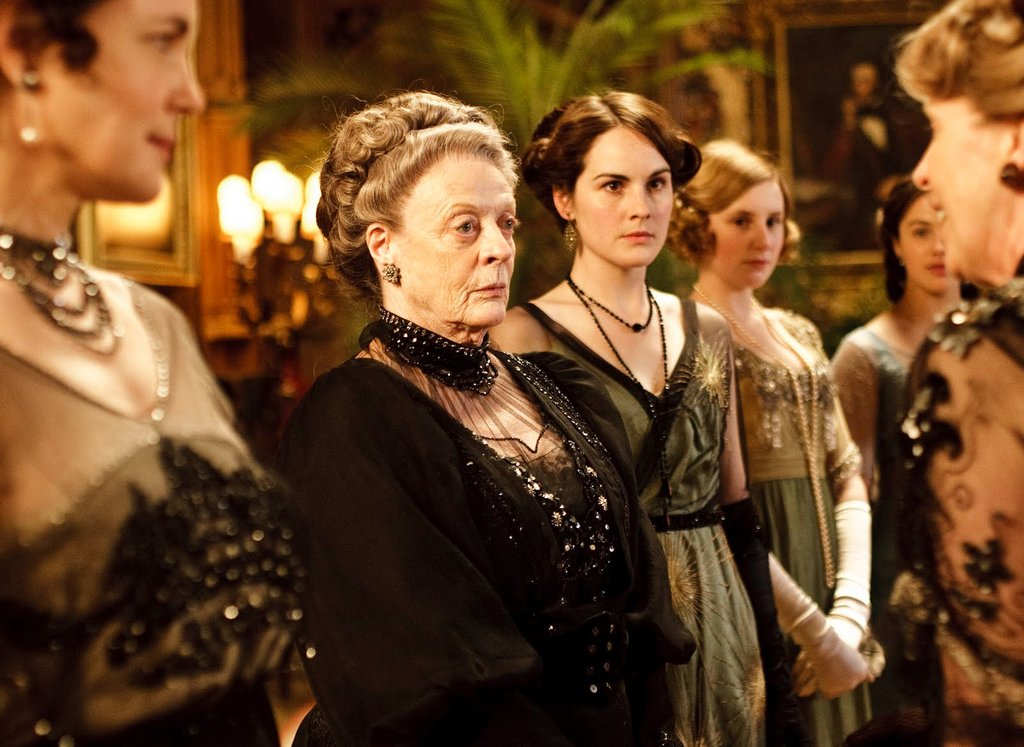 """Mary Crawley: """"Sybil is entitled to her opinions."""" Lady Violet: """"No. She isn't until she is married, then her husband will tell her what her opinions are."""" Photo courtesy PBS"""