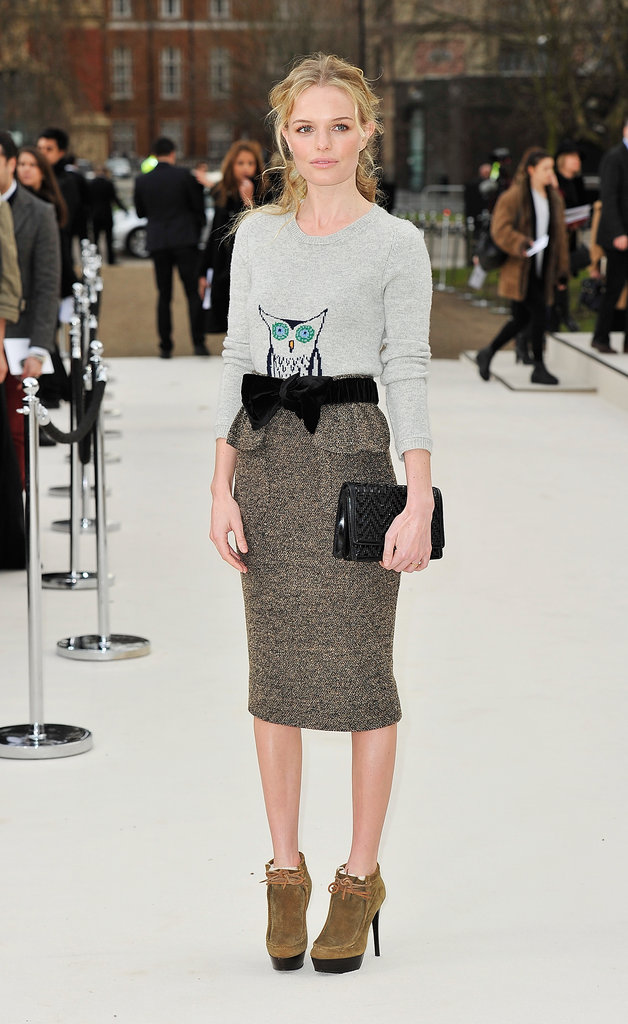 Kate Bosworth at Burberry