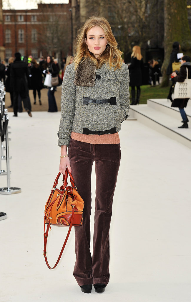 Rosie Huntington-Whiteley at Burberry
