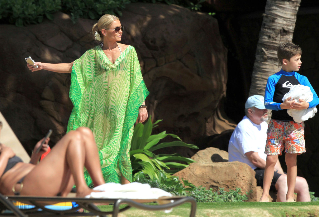 Kelly Ripa wore a two-piece suit under her cover-up.