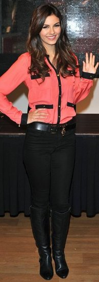 Victoria Justice Pink Blouse