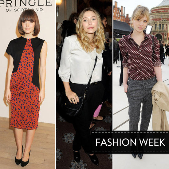 Celebrity Style on Show Front Row at London Fashion Week Autumn Winter 2012 Runway Shows: Alexa Chung, Kate Bosworth & more!