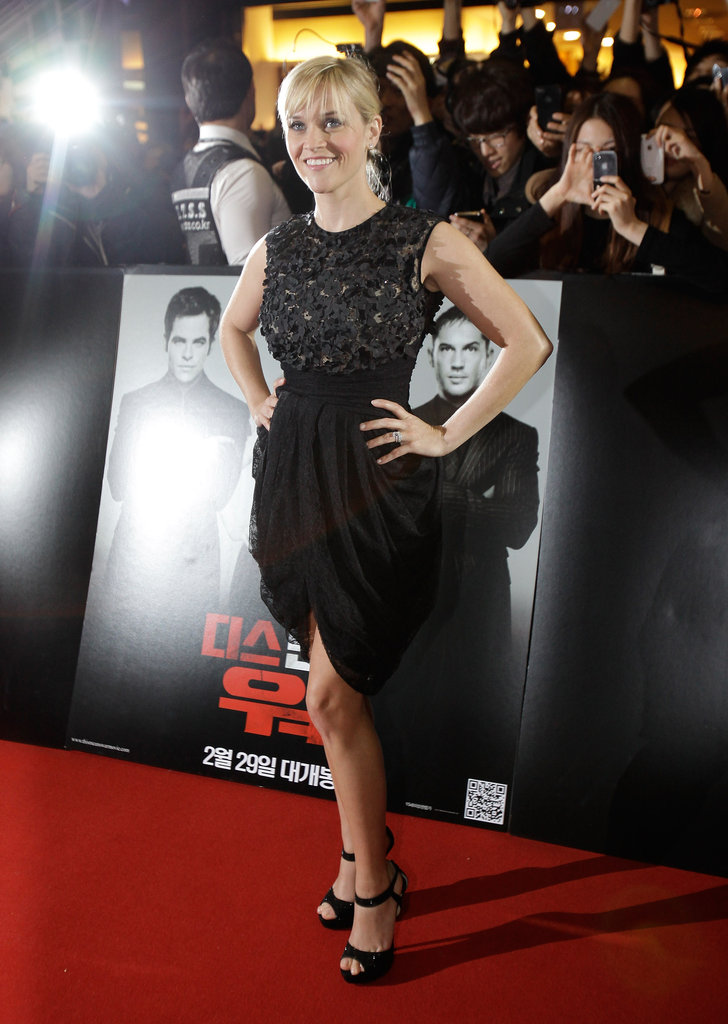 Reese Witherspoon wore a LBD to the Seoul premiere for This Means War.