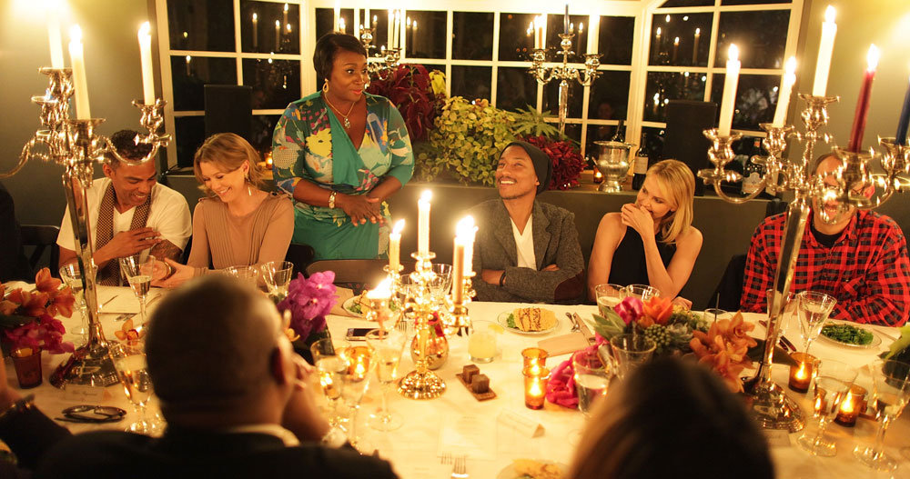 Chris Ivery, Ellen Pompeo, Bevy Smith, Charlize Theron, and Terry Richardson honored Pharrell Williams at dinner.