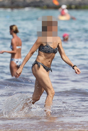Guess Which Celeb Is Looking Toned on the Beach?
