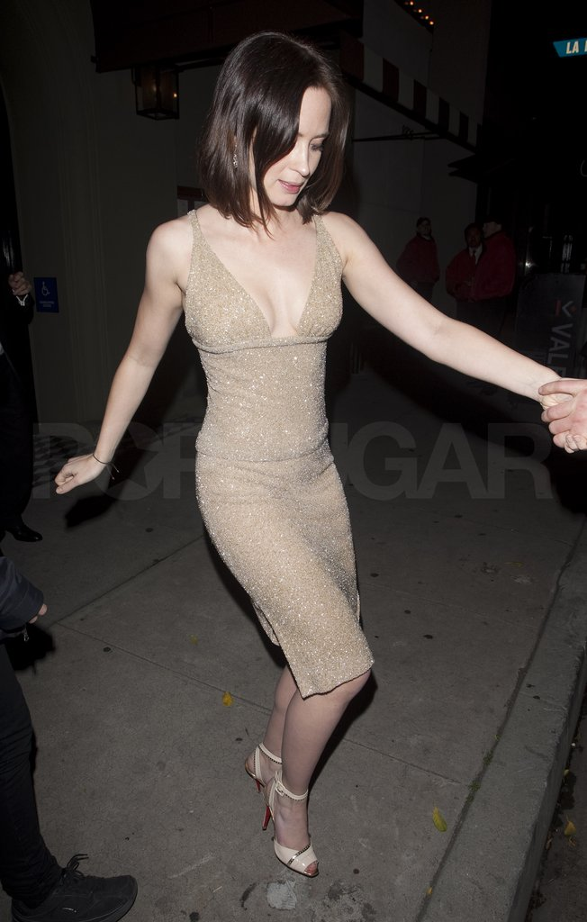 Emily Blunt left Clooney's Oscars party.