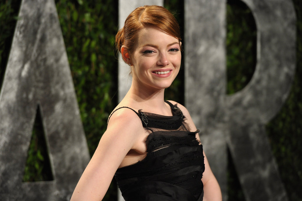 Emma Stone in her second gown of the night.