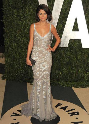 Selena Gomez at the Vanity Fair party.