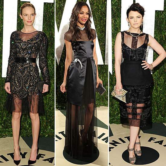 Oscars Afterparty Sheer Gowns Trend