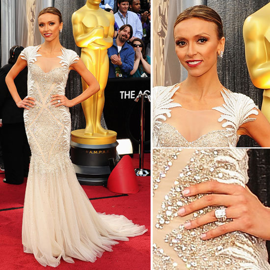 Giuliana Rancic in Tony Ward Spring 2012 gown on the Oscars Red Carpet: Rate or Hate Her look!