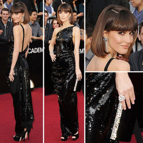 Rose Byrne Wears Black Vivienne Westwood One Shouldered Gown: We Love It, Do You!