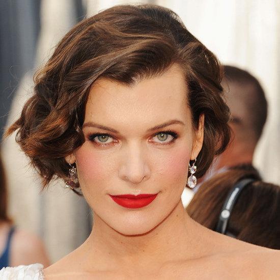 Milla Jovovich's Hair and Makeup at the 2012 Oscars