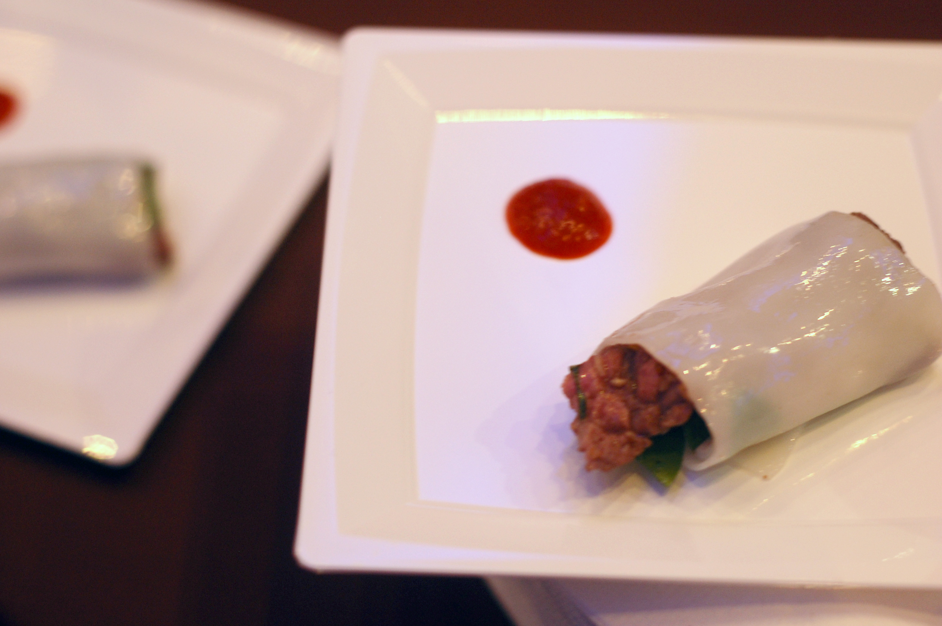 Lemongrass Beef Roll With Thai Basil and Roasted Peanuts
