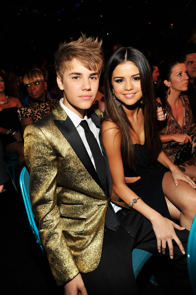 Selena Gomez and Justin Bieber sat together during the Billboard Music Awards in May 2011.