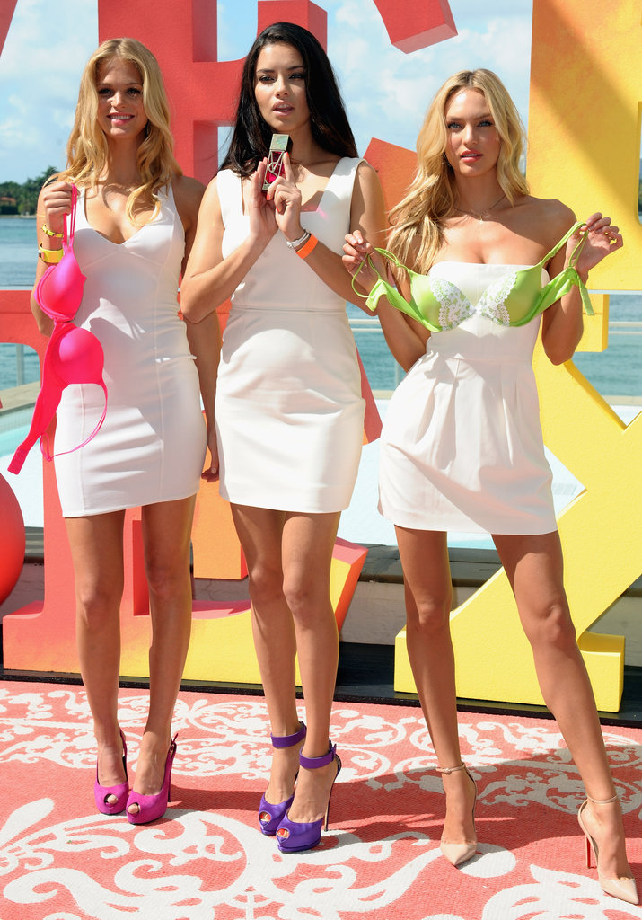 Adriana Lima, Erin Heatherton, and Candice Swanepoel modeled in Florida.