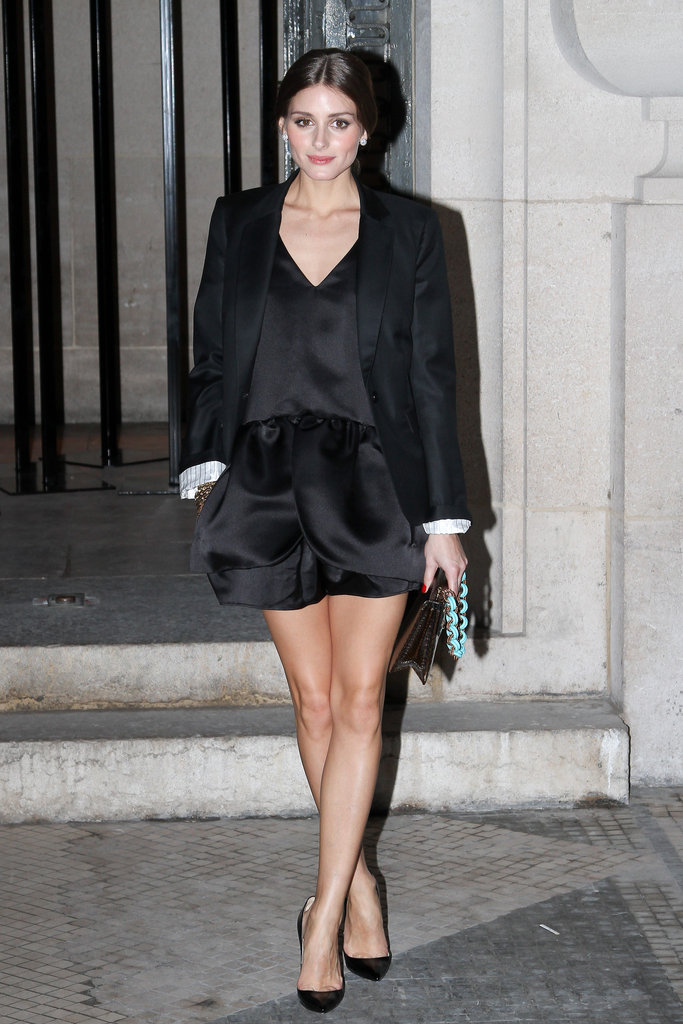 Olivia Palermo stepped out in chic evening shorts for Rochas.