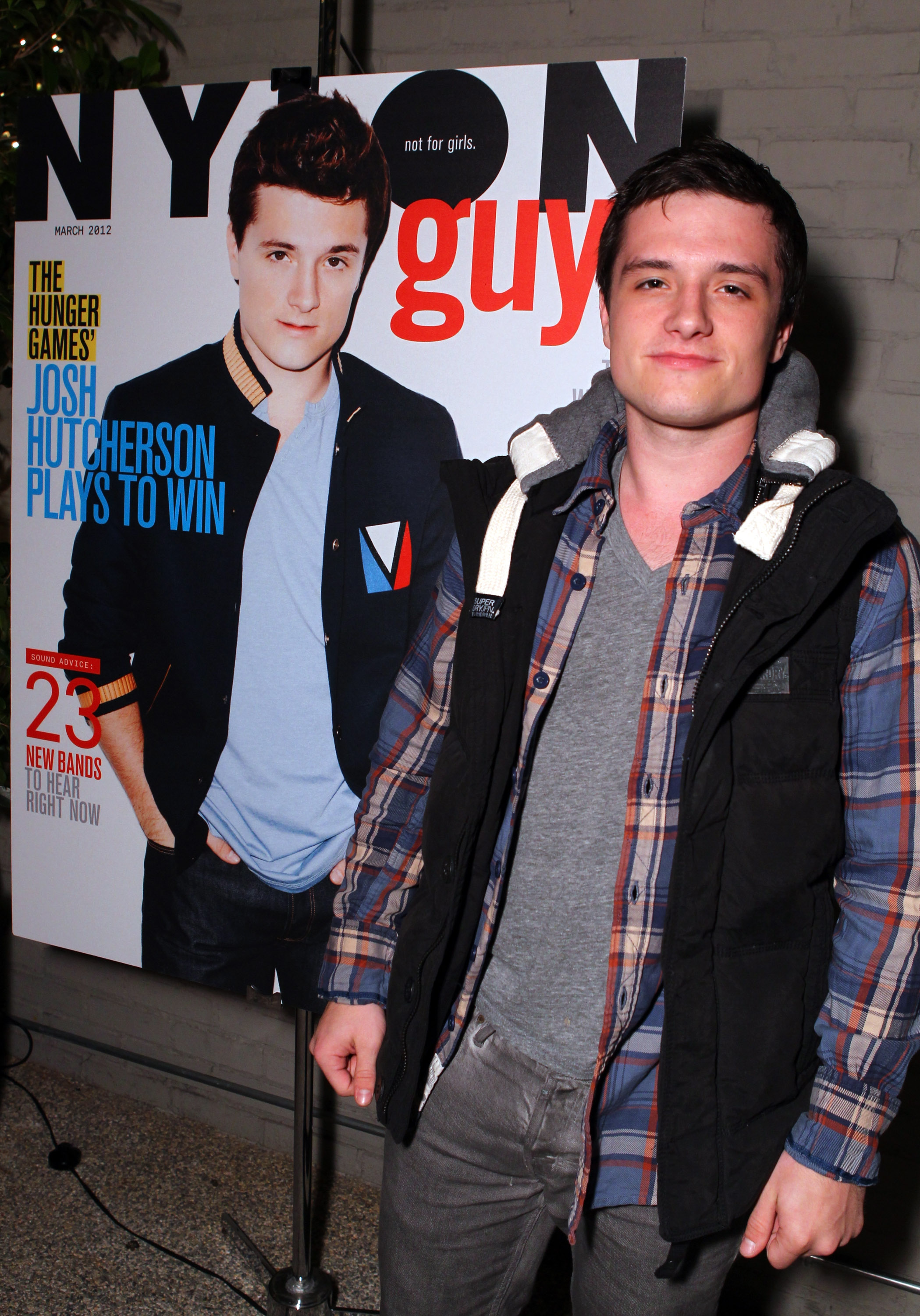 Josh Hutcherson talked to us about his favorite scene in The Hunger Games at his cover launch party.