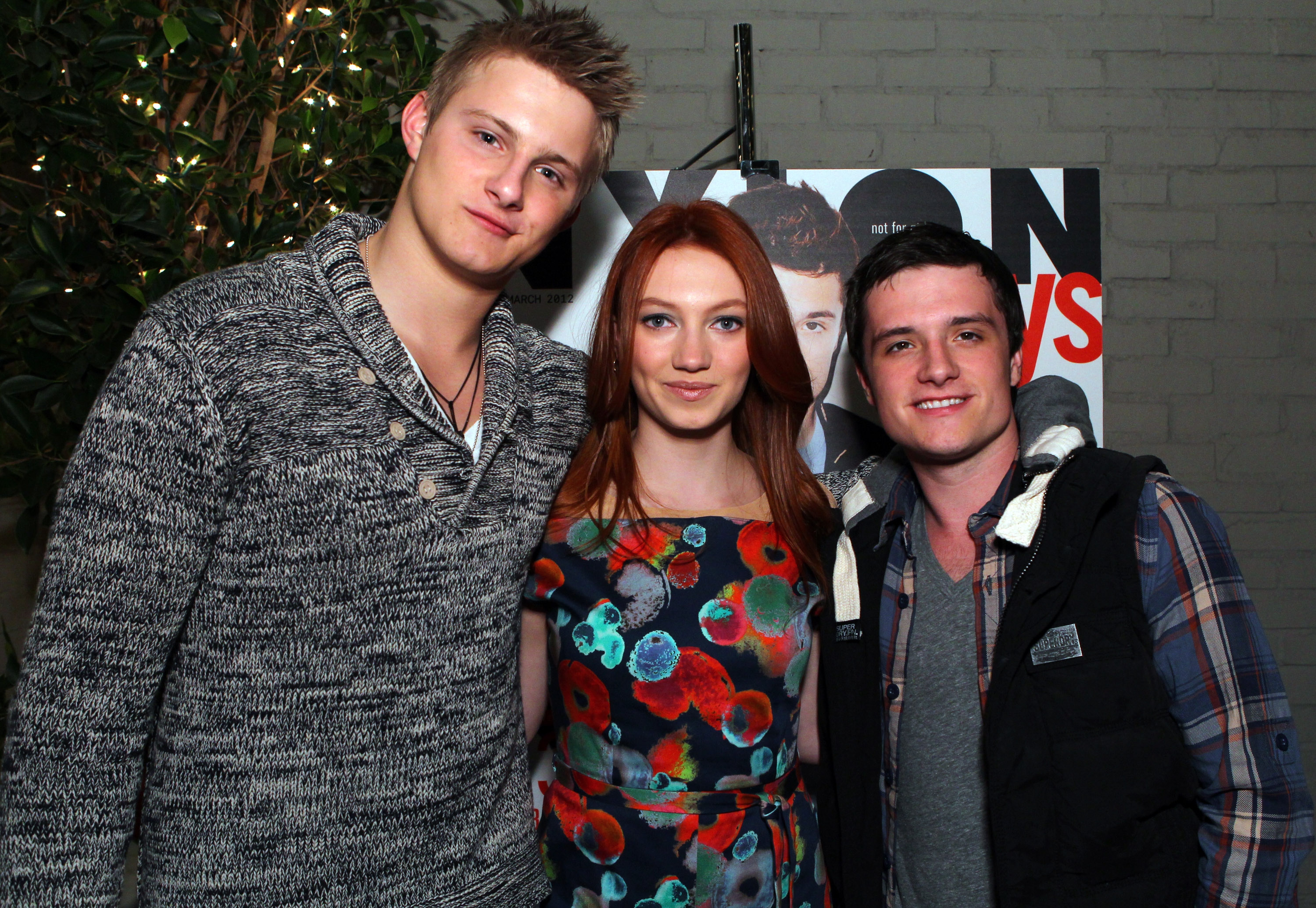 Alexander Ludwig and Jacqueline Emerson caught up with their costar Josh Hutcherson.