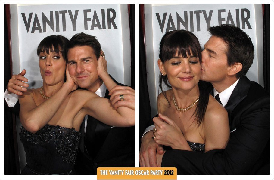 Tom and Katie Kiss, Silly Emma and Kristen — See Pics From the VF Oscars Party Photo Booth