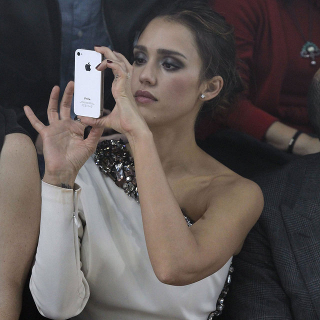 Jessica Alba Paris Fashion Week Front Row Pictures at Lanvin