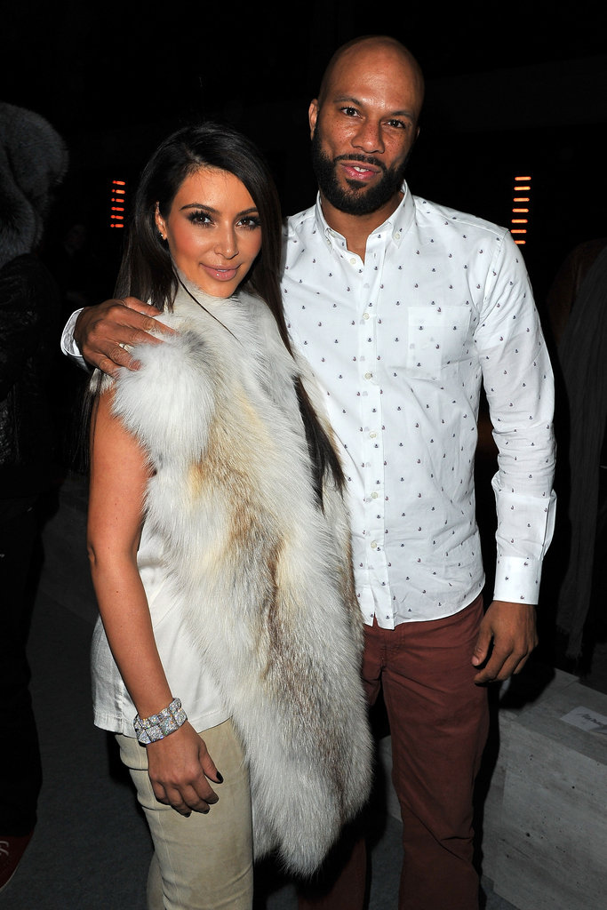 Kim Kardashian and Common at Kanye West