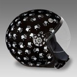 Paul Smith Men's Hand Print Motorcycle Helmet - AFXA-HELM-HAND-1