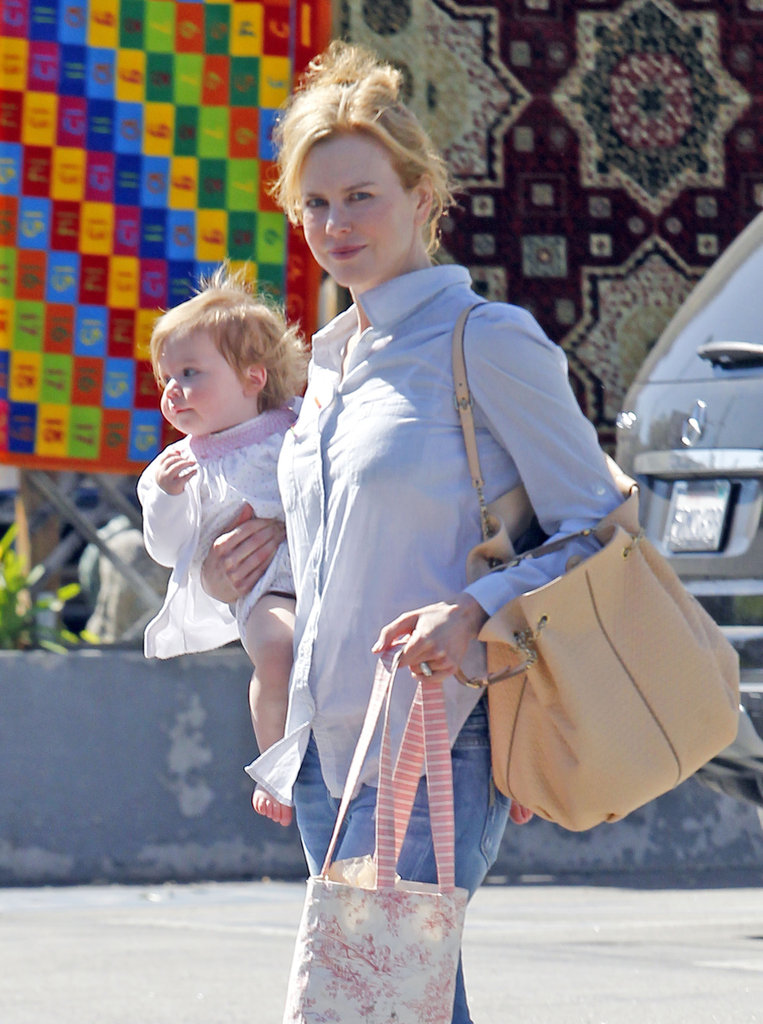 Nicole Kidman and Faith Urban left a children's gym.