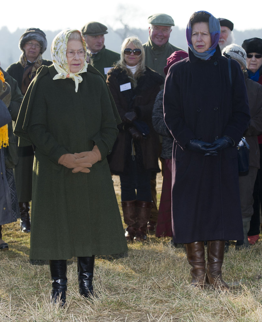 The queen and her daughter Princess Anne attended the tree-planting ceremony.