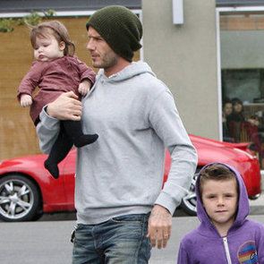 David and Victoria Beckham Family and Children Pictures in Santa Monica