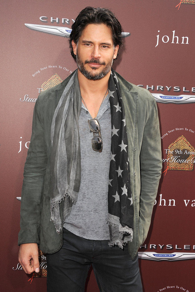 Joe Manganiello posed at the red carpet at the John Varvatos Stuart House benefit.