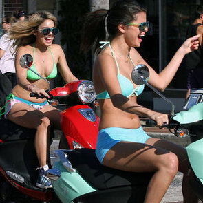 Selena Gomez Bikini Pictures With Vanessa Hudgens on Set