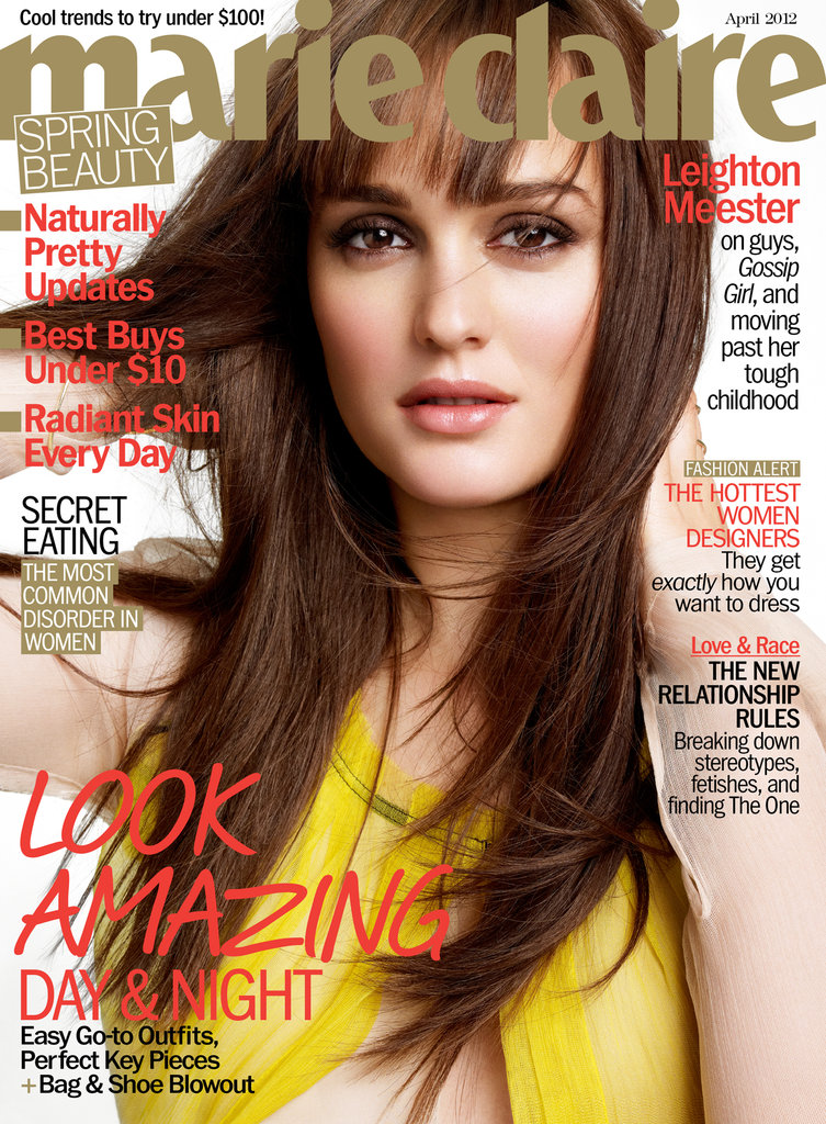 Leighton Meester in Marie Claire April 2012.
