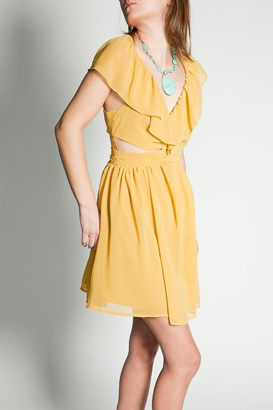 Nicole Richie and Nicky Hilton have both been spotted wearing this pretty cutout babydoll dress. The price isn't bad, either.  Keepsake Lost Without You Dress in Mustard ($149)