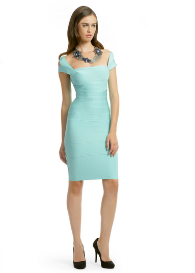 Hervé Léger mint macaroon dress (rent for $150)