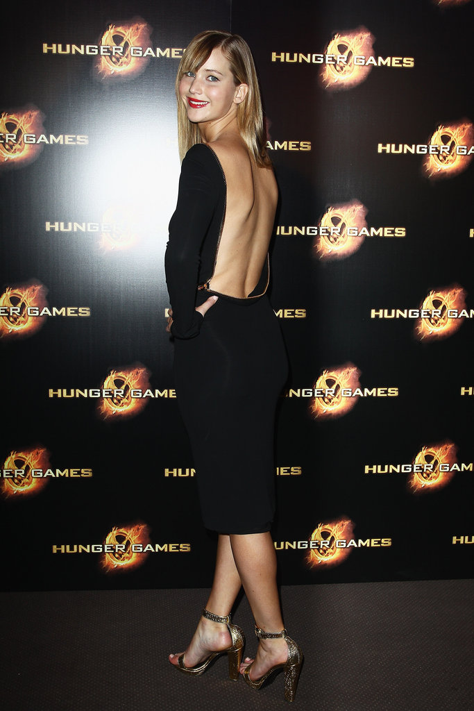Jennifer Lawrence Strikes a Pose in Paris With Liam, Elizabeth and Josh