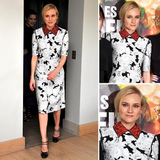 Diane Kruger in Derek Lam Collared Dress in Paris