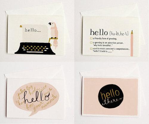 Hello Card SET 4pcs