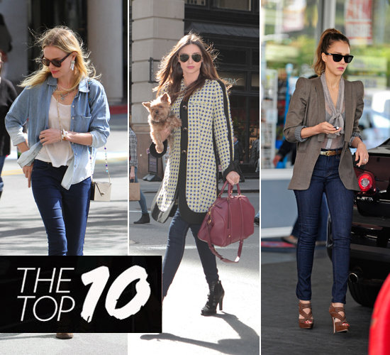 Pictures of This Week's Top Ten Best Dressed Celebrities 15th March 2012 Miranda Kerr, Beyonce, Jessica Alba & More