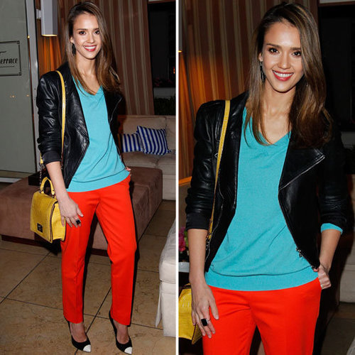 Jessica Alba Nails Spring's Brights Trend — Here's How to Get the Look