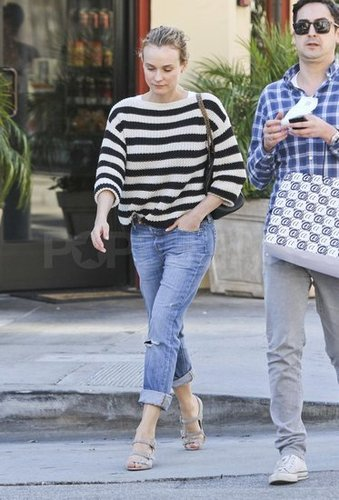 Diane Kruger Shops in Stripes