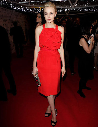 Carey Mulligan is a Red-Hot Dress